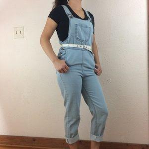 """Overalls M-29""""W Denim Blue Jeans Jumpsuit w/ Bib"""
